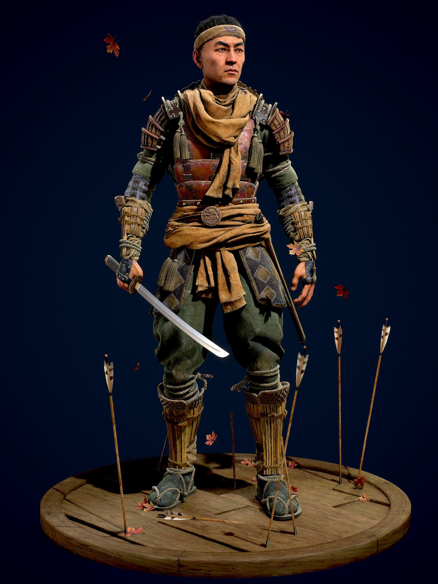 Artstation Samurai For Feudal Japan The Shogunate Game Character Art Real Time Challenge Sergei Kotenko