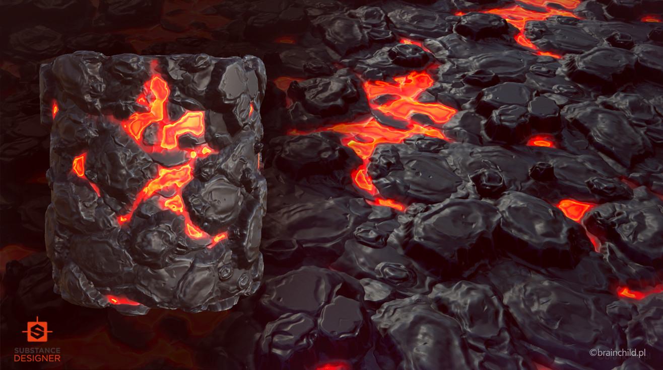 Rafal urbanski artisationpbr lava