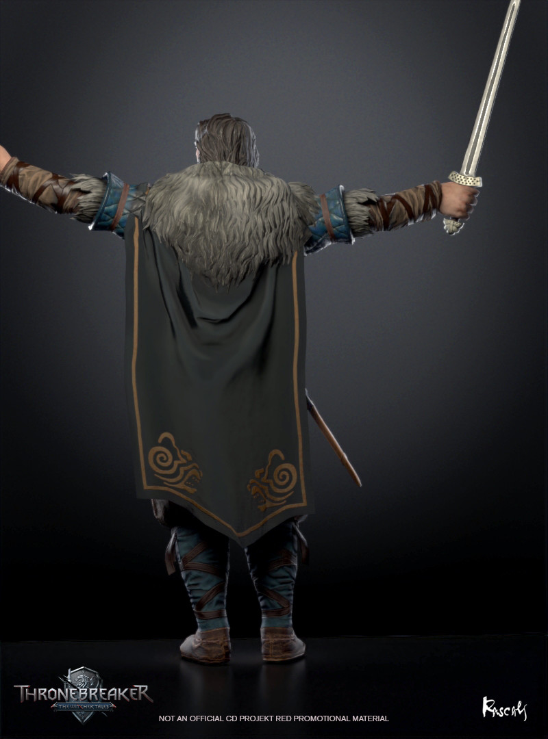 Eist's body was later retrieved from the fields by his countrymen and brought back to the Isles. He was buried in a traditional stone tomb next to an empty, symbolic coffin for his wife as the queen's body was never found. (Source: Witcher Wiki)