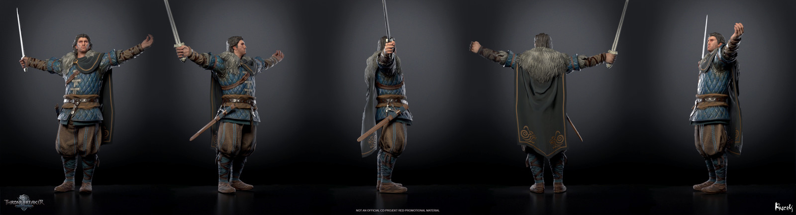 Artist: Jaro Pijacek, Art Director: Roman Mindek, Producer: Tom Roller.  Poses created from rigs and animation by CD PROJEKT RED. Check out more from Rascals at www.rascals.studio