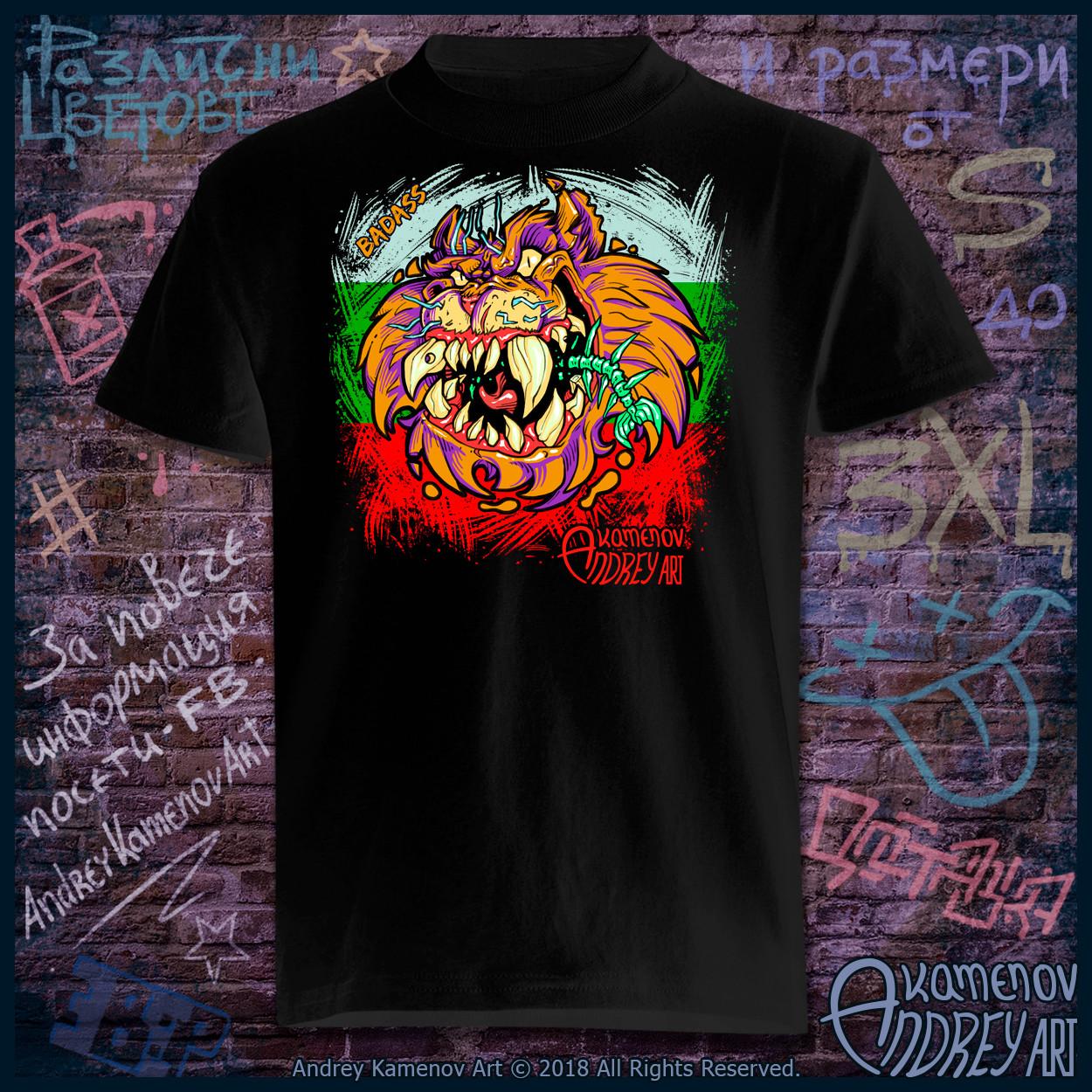 Andrey kamenov badass cat t shirt bg 01