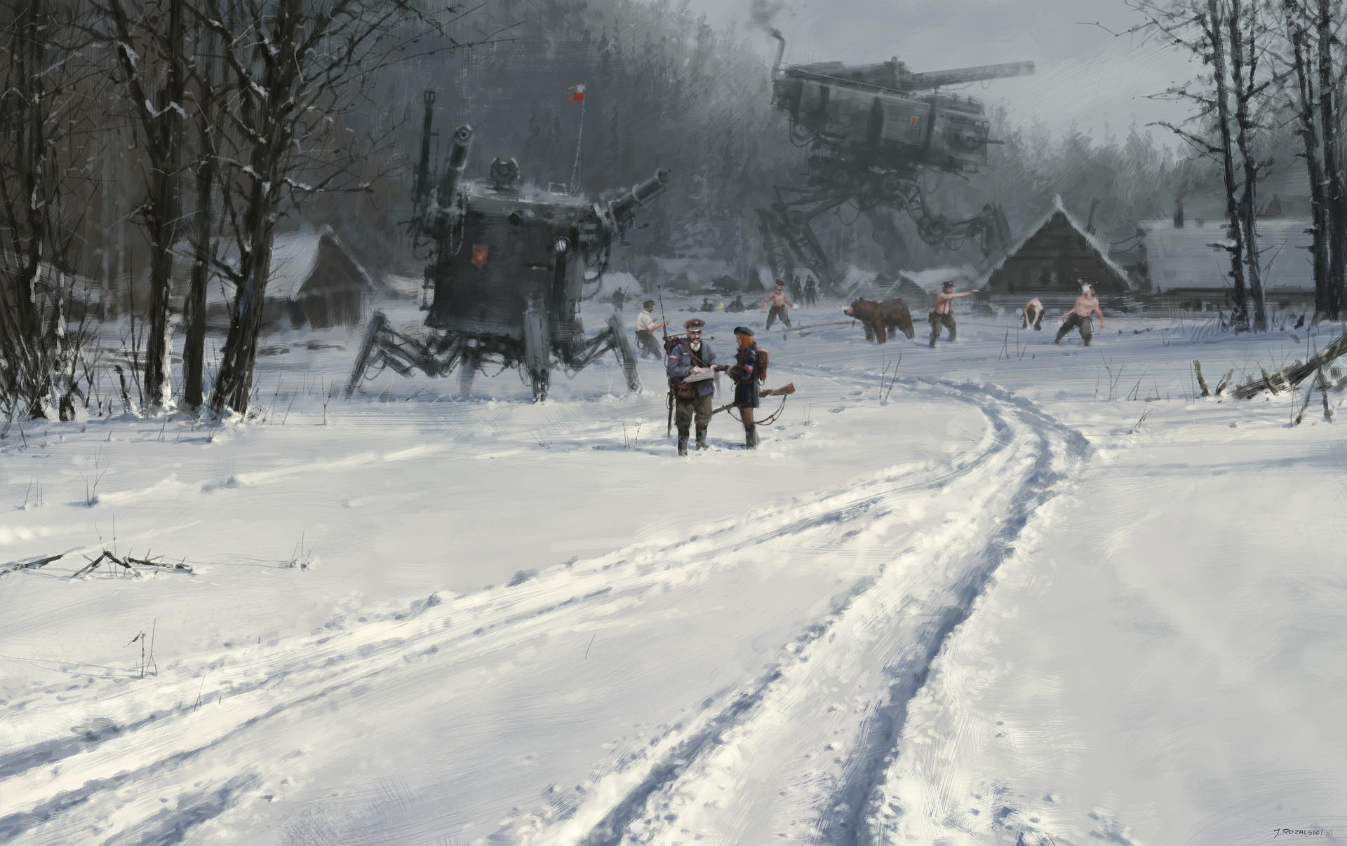 Jakub rozalski 1920 day before battles