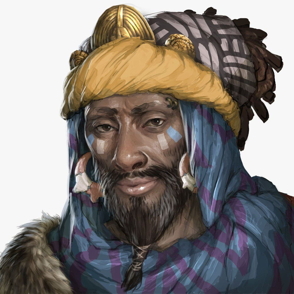 Travelling merchant, offering special goods in the game.