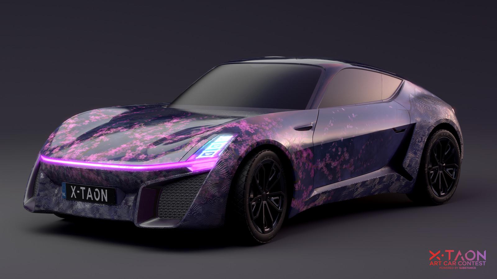 Substance painter X-Taon  art car contest