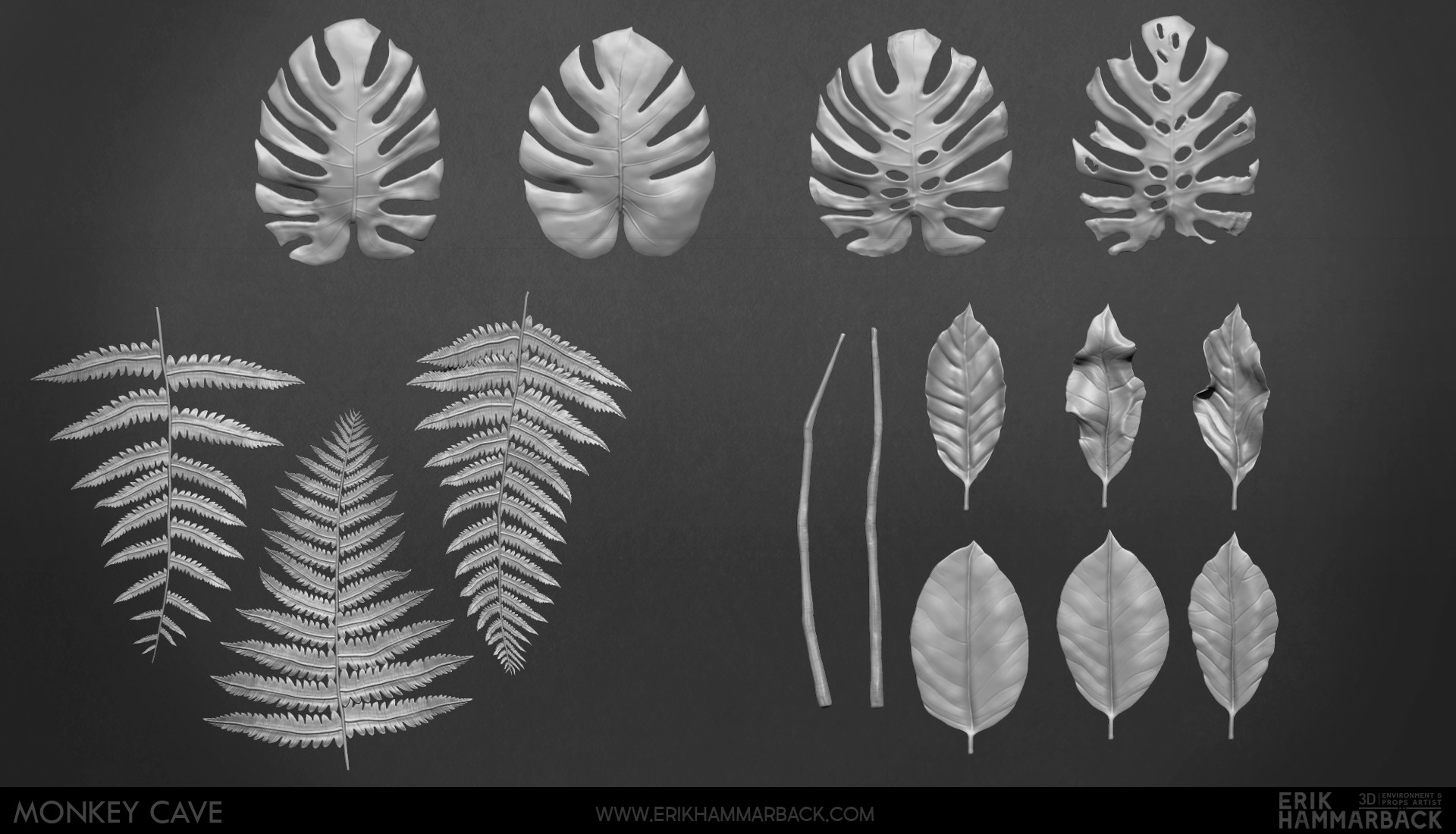 Erik hammarback erik hammarback jungle vegetation sculpts