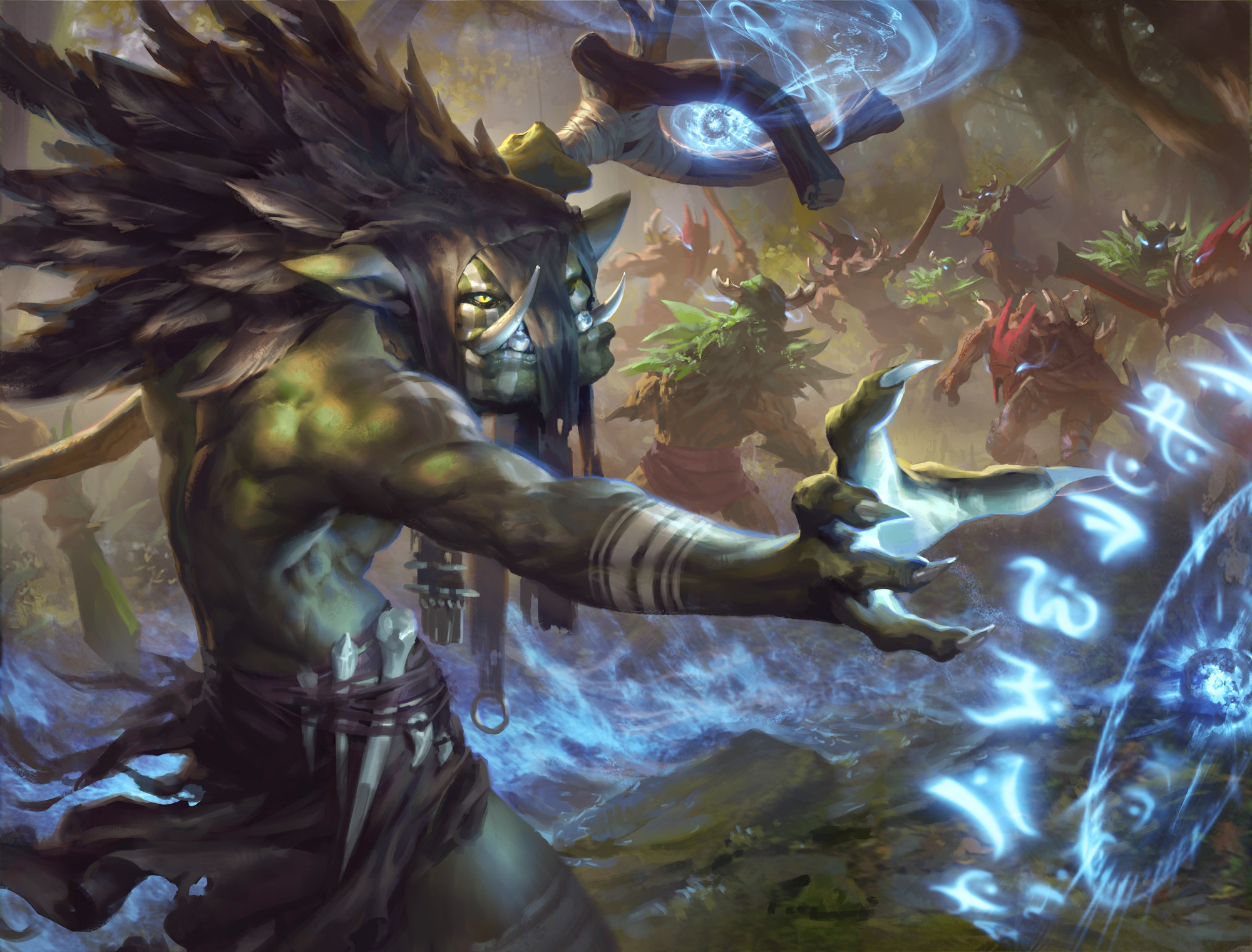 Sometimes the simplest of spells can be the most effective. — J'muy, The Dark Troll Chieftain