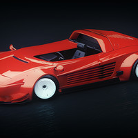 Artstation Lamborghini Diablo Retro Runner Federico Zimbaldi