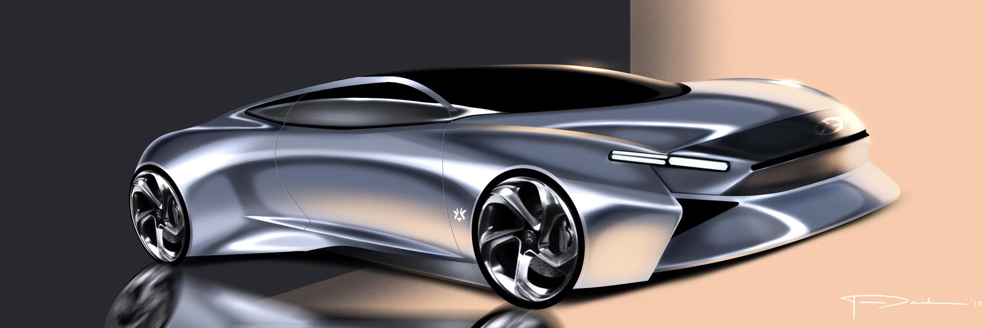 Ilel David Mercedes Concept Sketch Video Tutorial