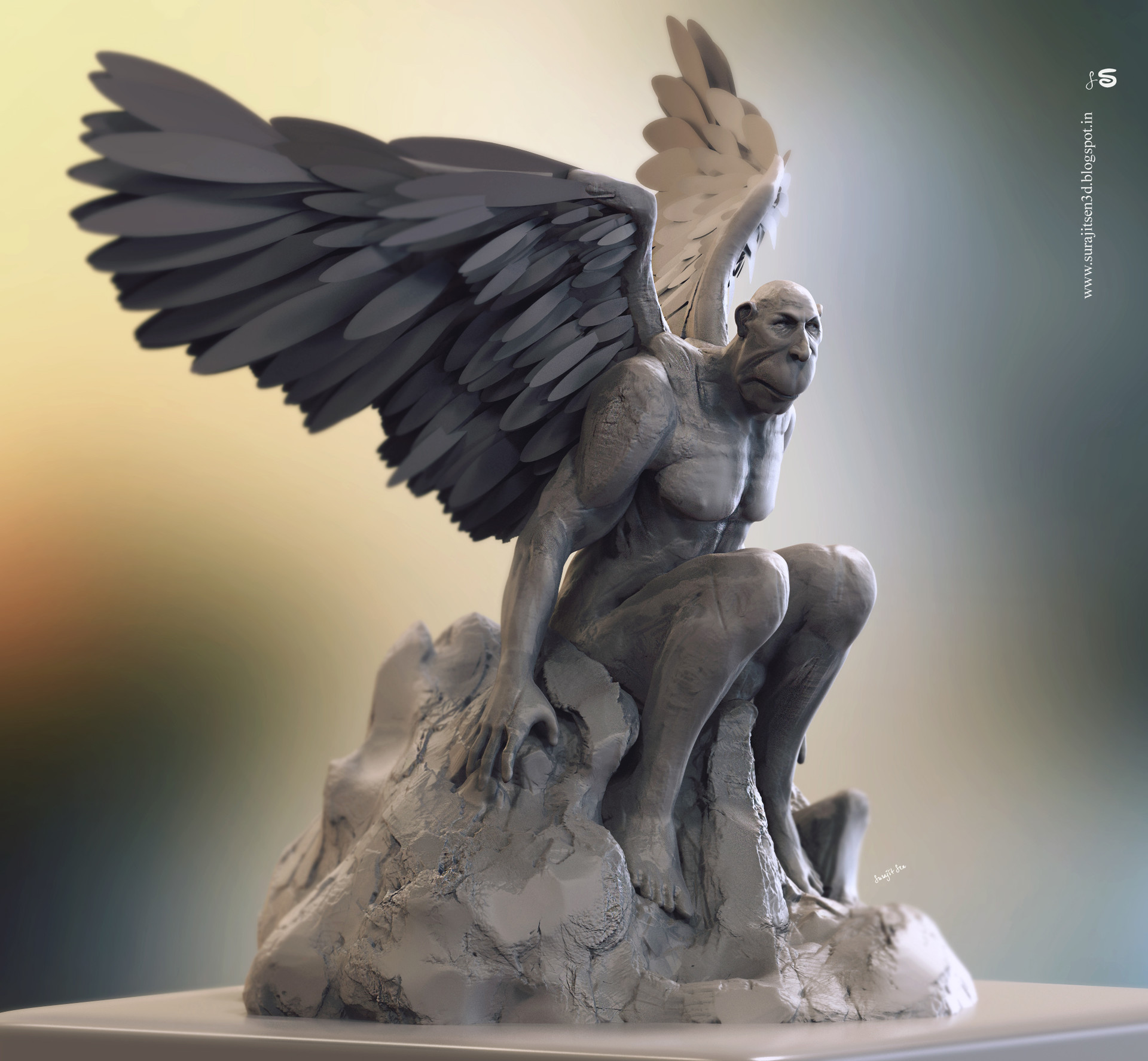 Surajit sen old angel sculpt by surajitsen dec2018