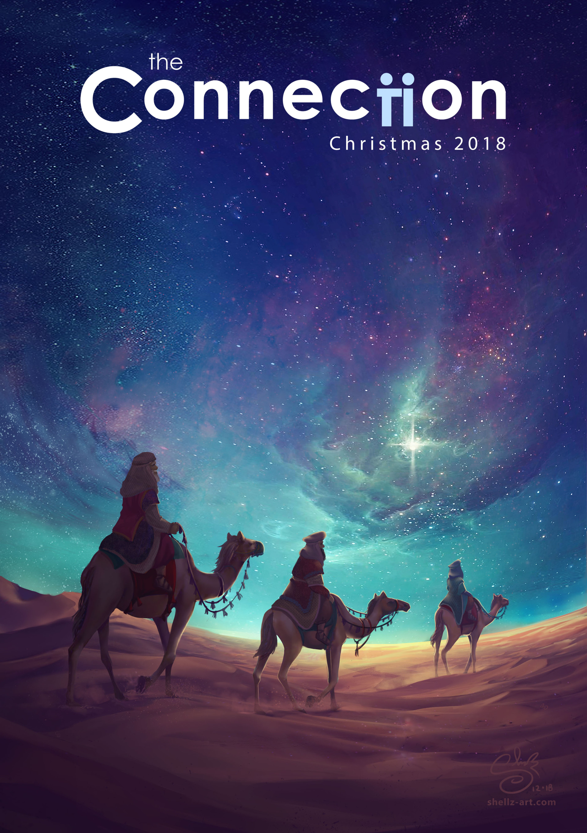 Shellz art christmas three wise men cover front title sig