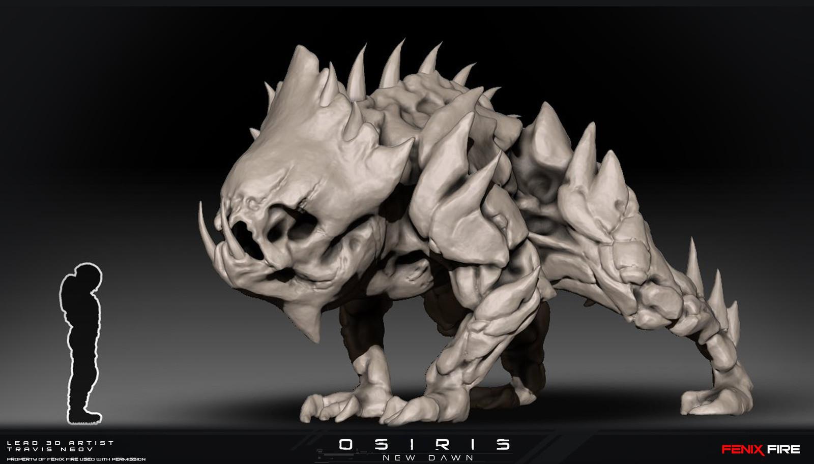 Cerberus Creature Hi Res Sculpt
