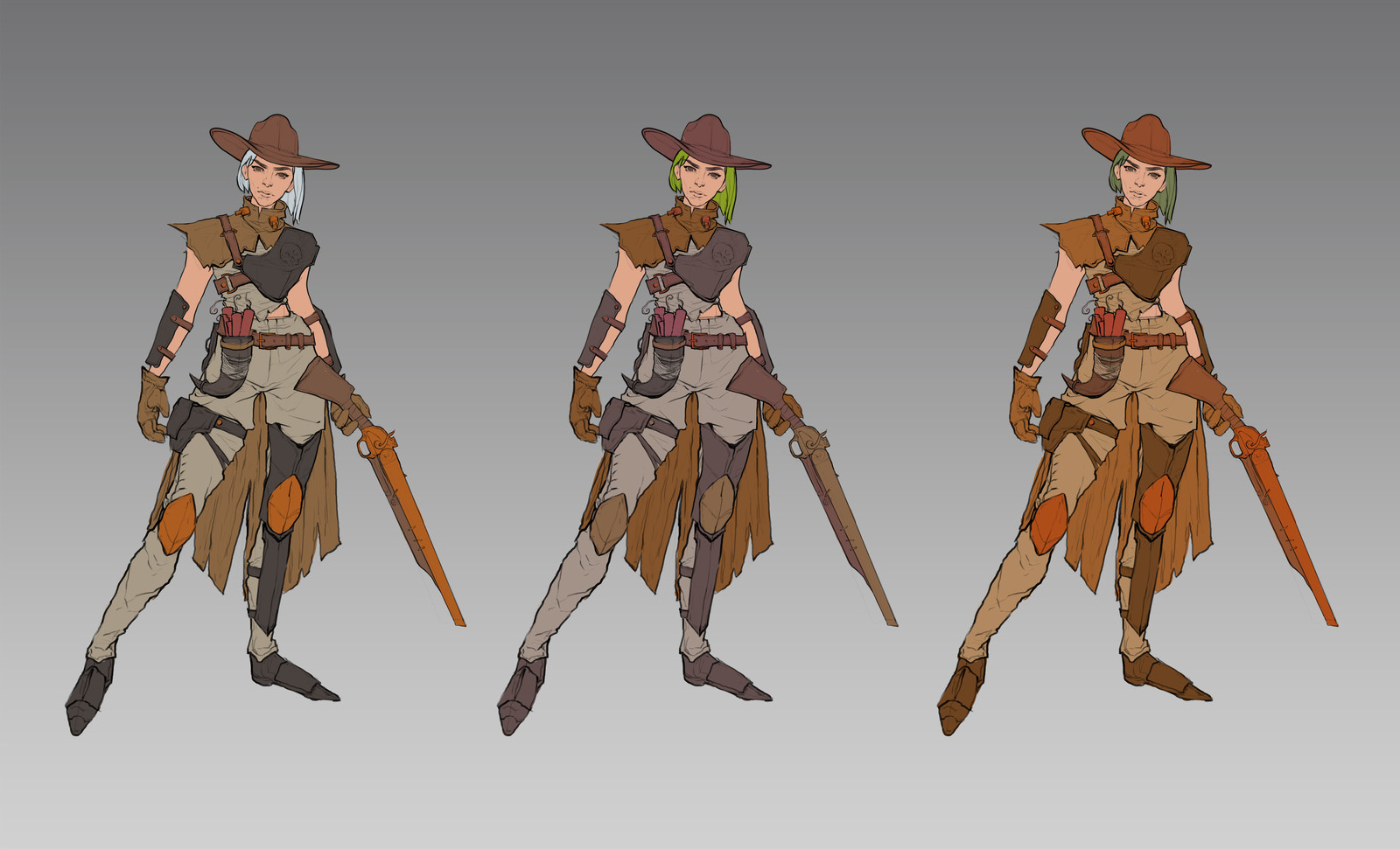 WIP Fan Overwatch Skin Design: Post-Apocalyptic Ashe