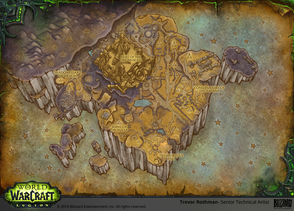Legion World Map.Artstation World Of Warcraft Legion Maps Trevor Rothman