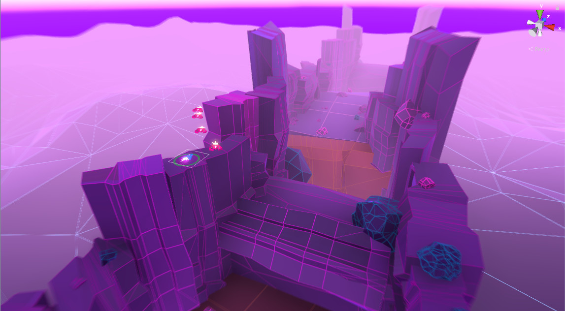 Unity screen shot of the level design