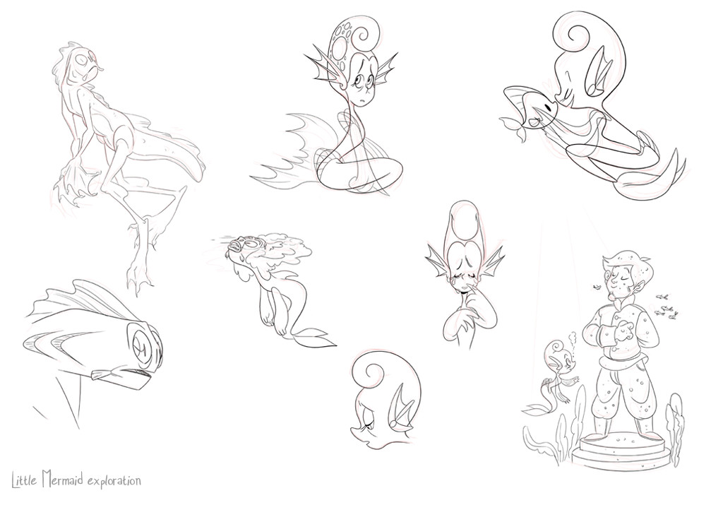 Aisleen romano mermaid sketches