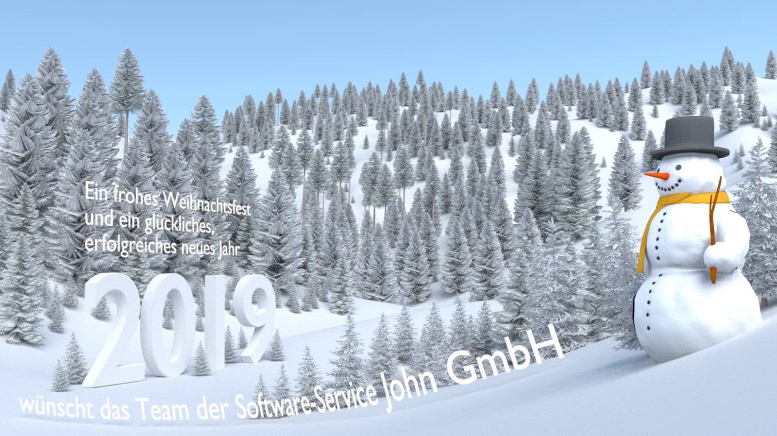 Test-Render 2 with high-poly trees and text in german.