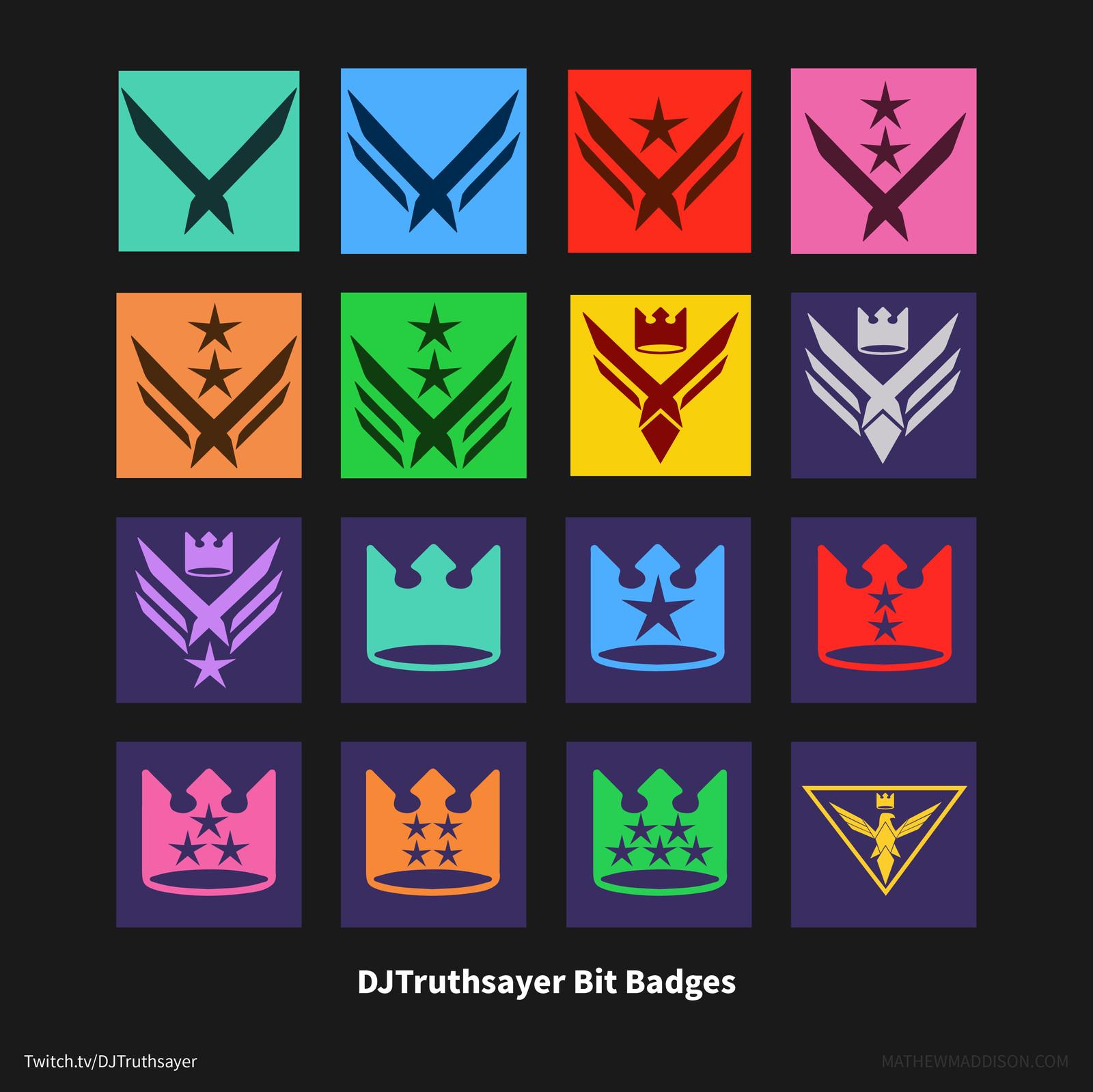 Twitch.tv Bit Badge Designs