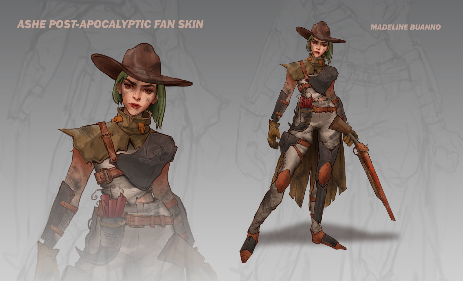 Ashe Post-Apocalyptic Fan Skin