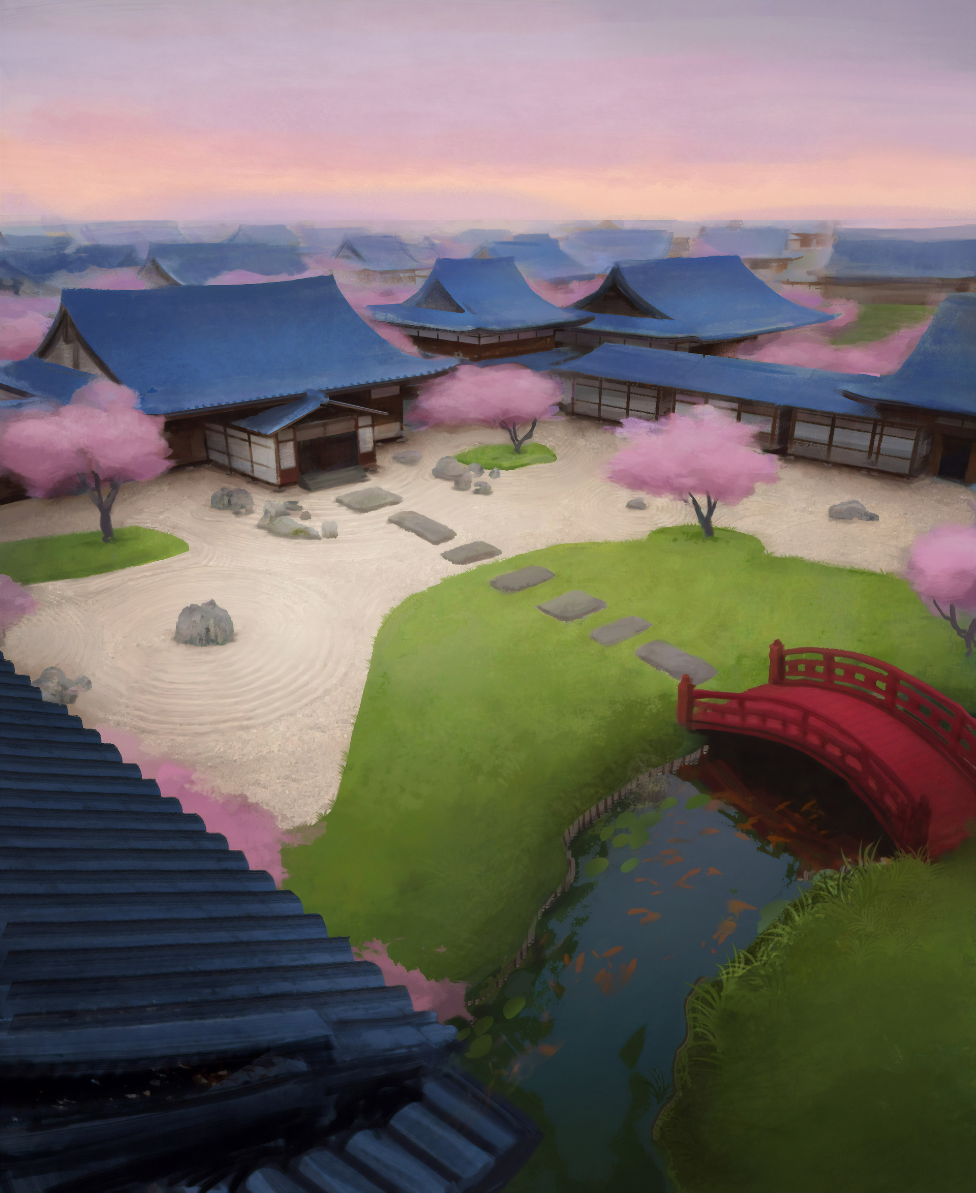 Samurai mansion overview