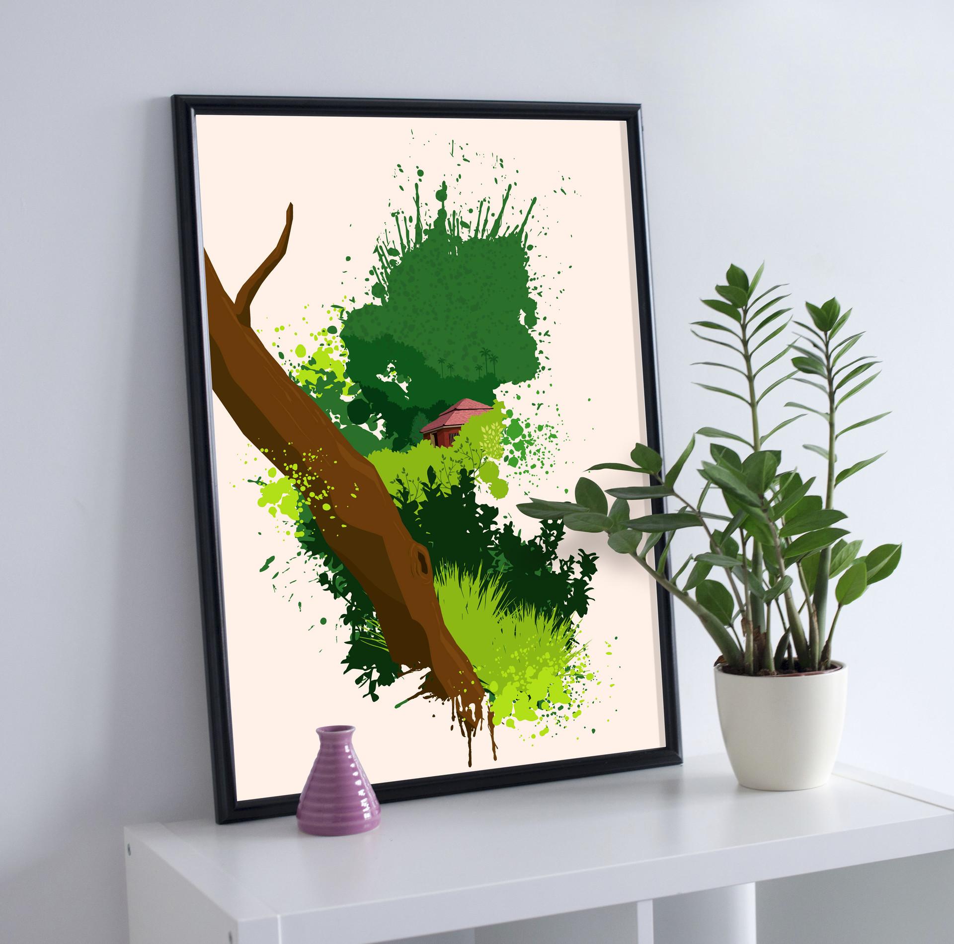 Rajesh r sawant big tree free premium photo frame mockup psd