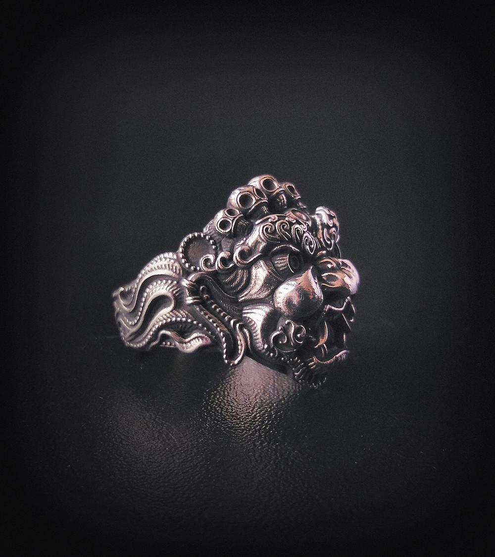 Nacho riesco gostanza anillo mascara tibetana plata2