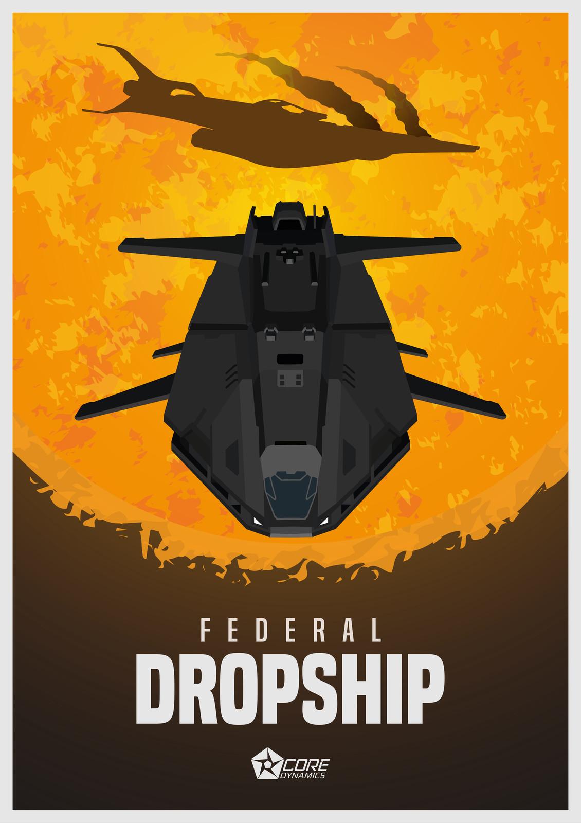 Elite Dangerous - Federal Dropship Posters (Revisit)