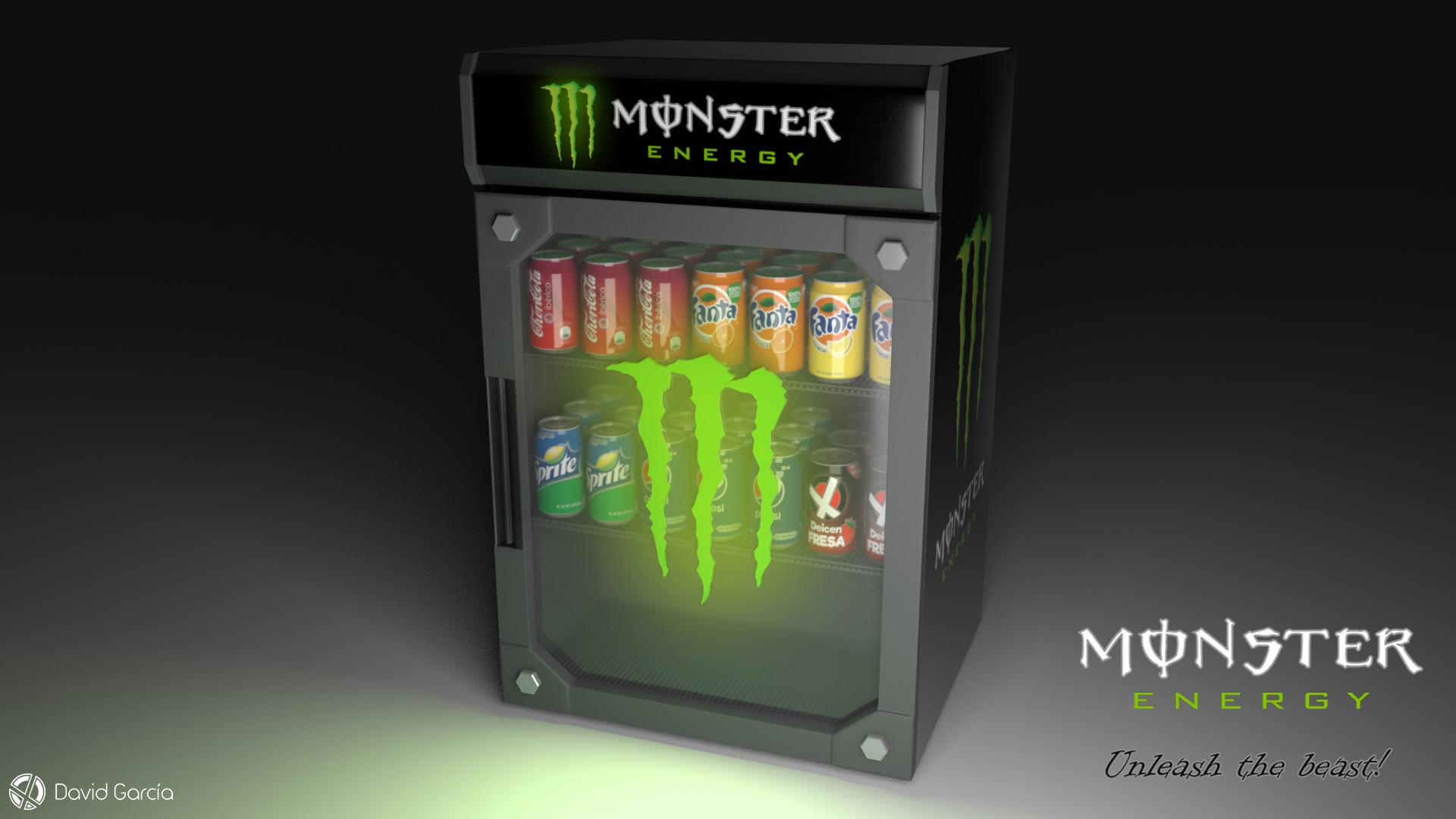 Hedendaags ArtStation - Monster Energy Mini Fridge, David García LK-17