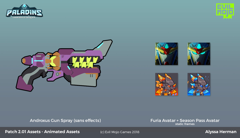 Animated spray + avatar flats