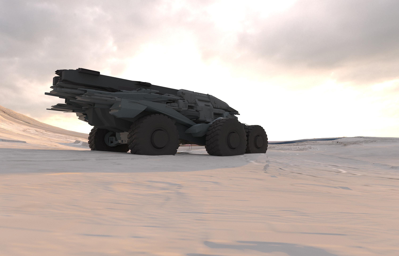 Rover 3D sketch, modeled in blender