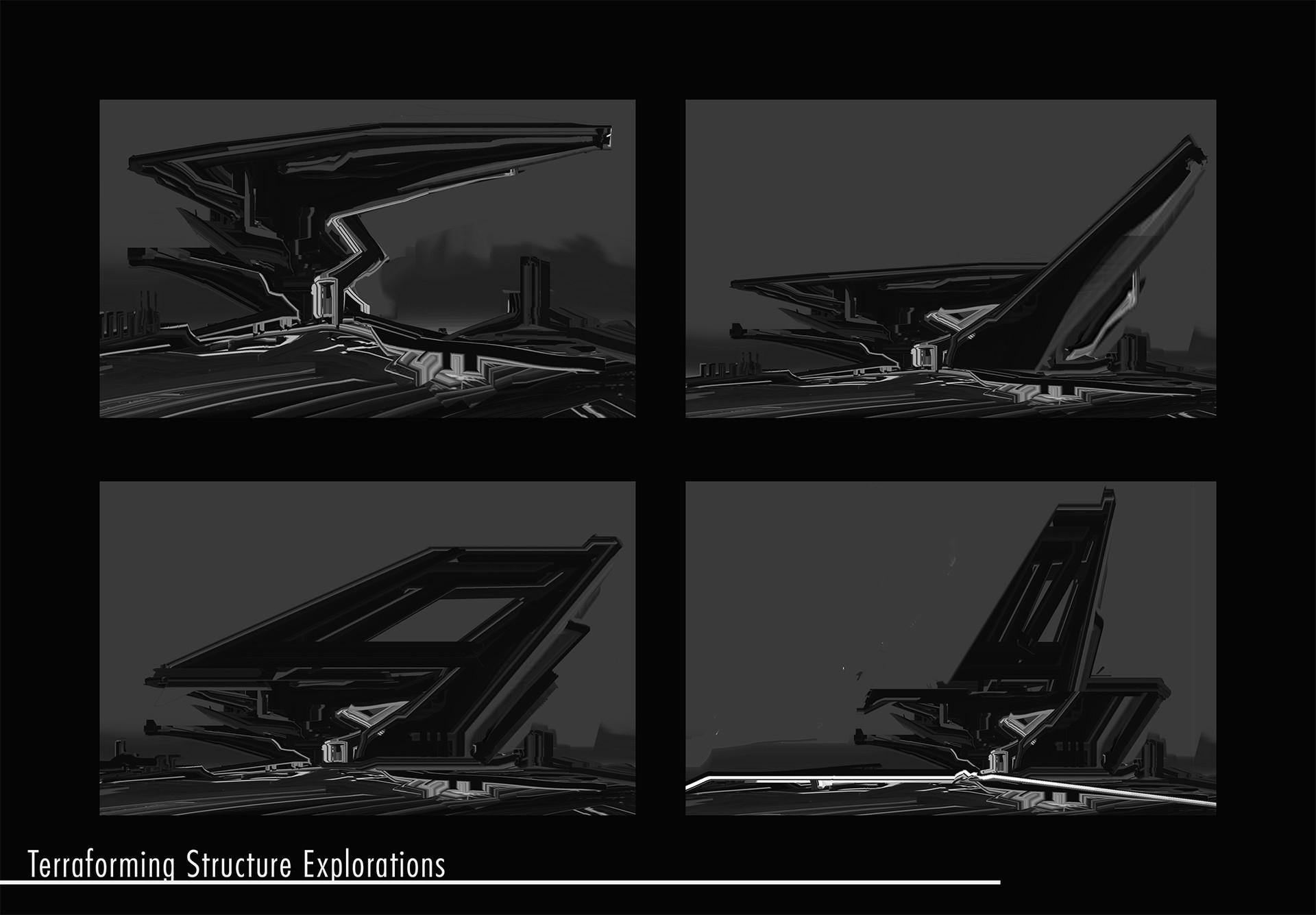 Shape explorations for terraforming machine