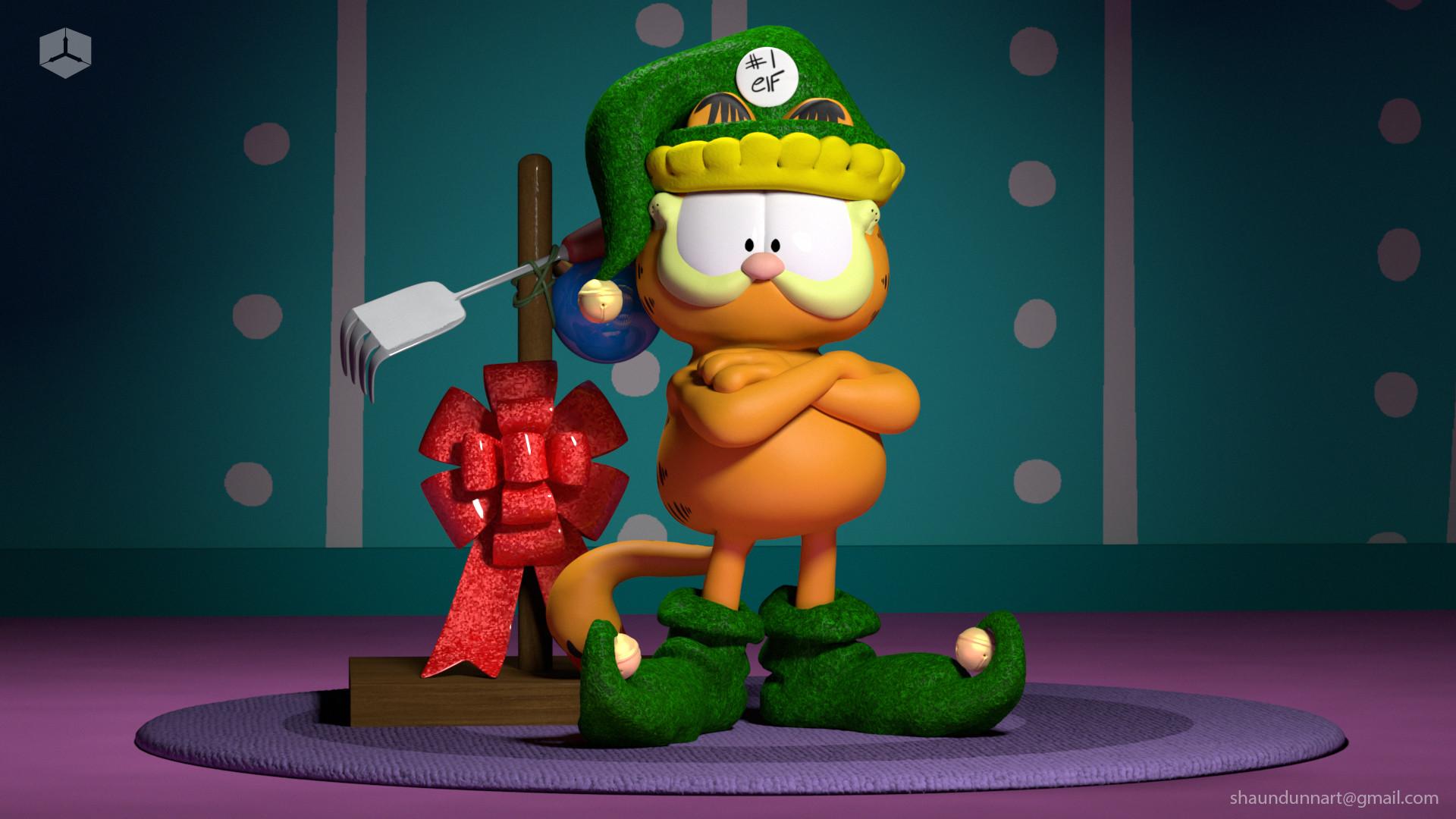 Garfield Christmas.Artstation A Garfield Christmas Shaun Dunn