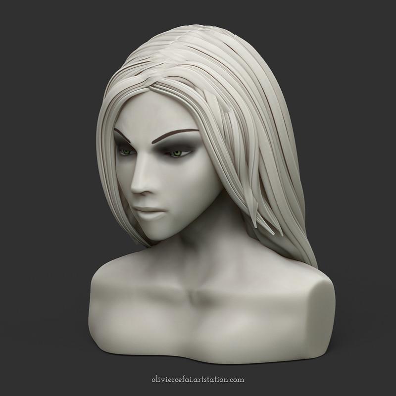 Mannequin face 001