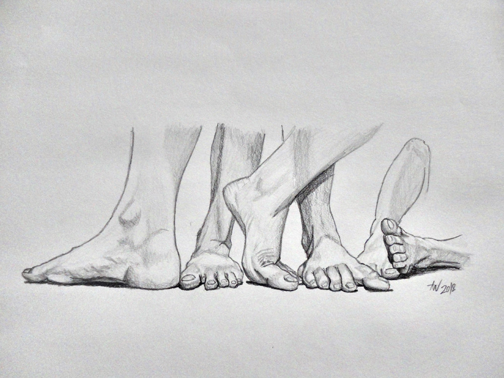 Personal project - Composition with Feet Project