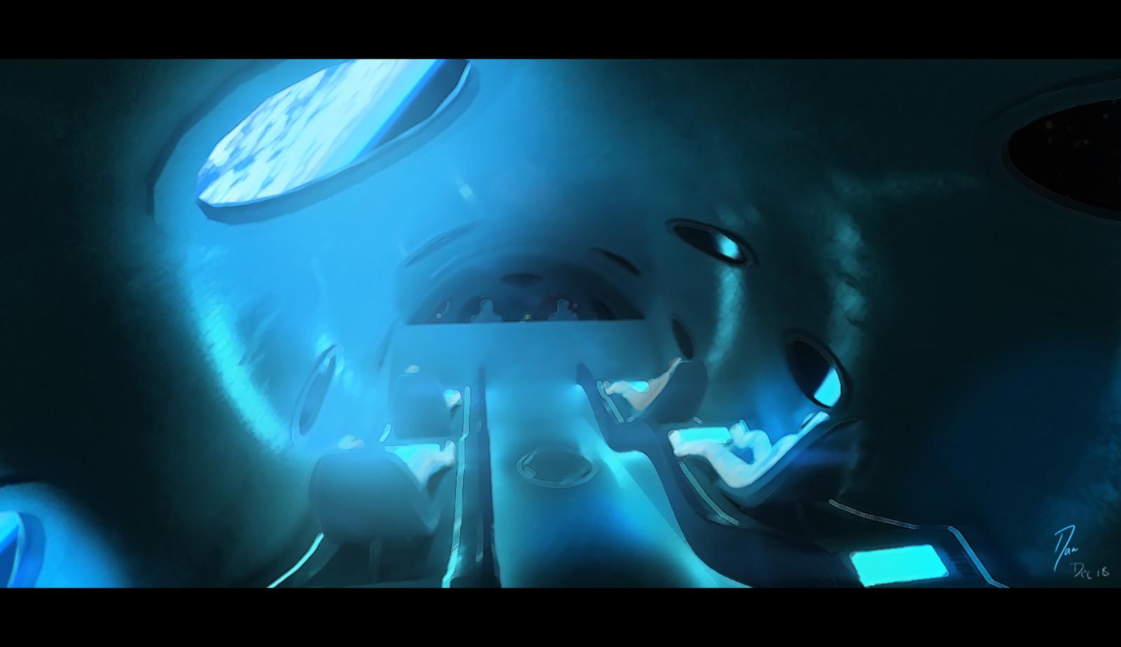 Space Tourist - Concept VR painting