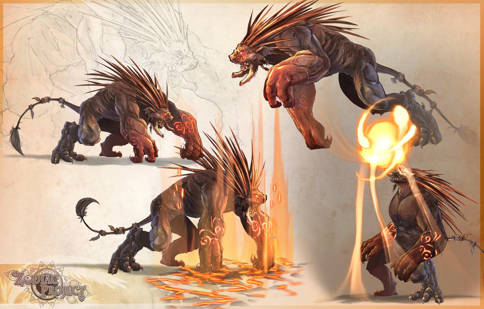 Animation de monstres d'après les contraintes techniques et la direction artistique
