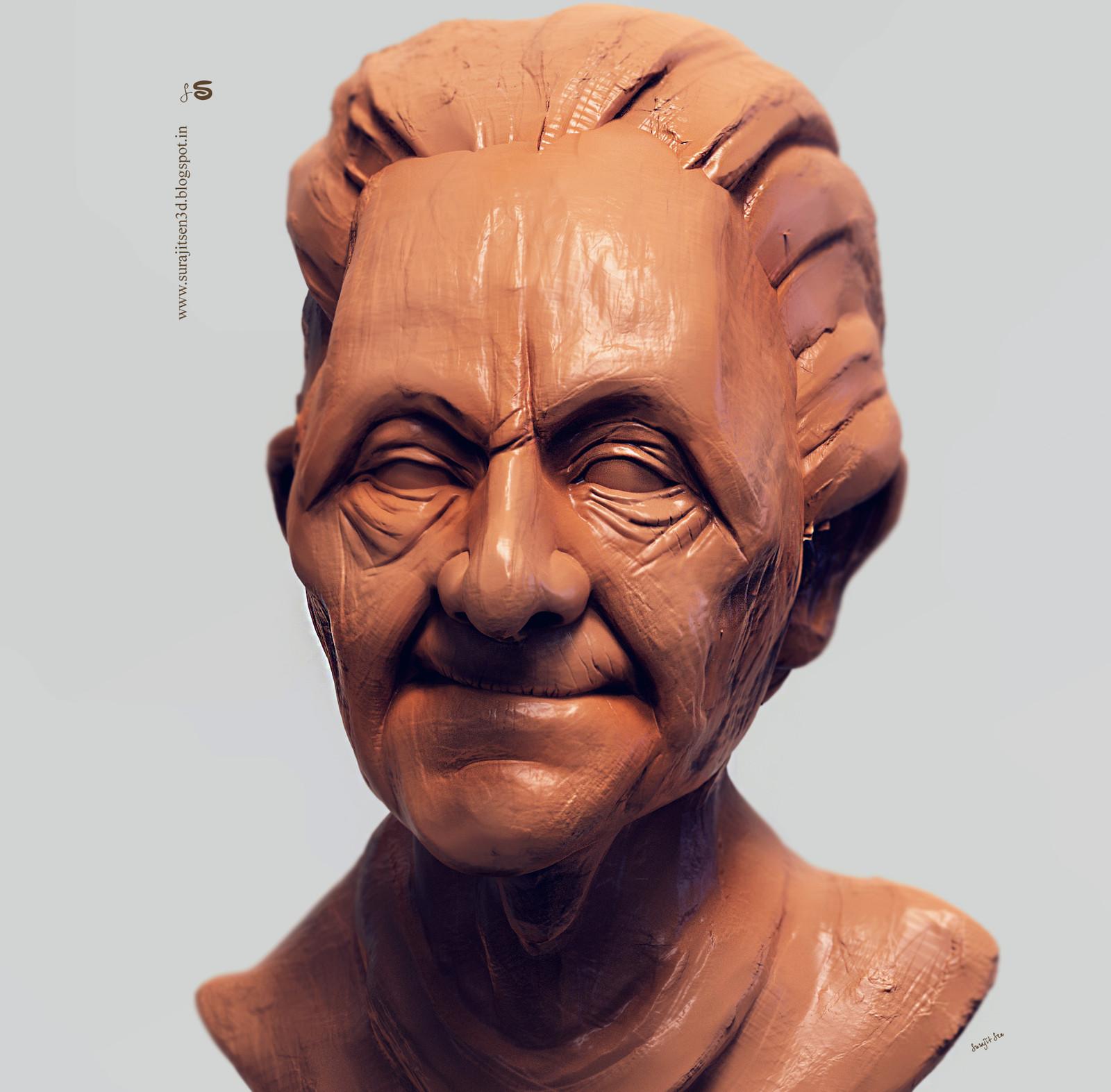 "Digital Sculpt by Surajit Sen  My weekend speed Digital sculpt study. ..""Arthur"". ...."
