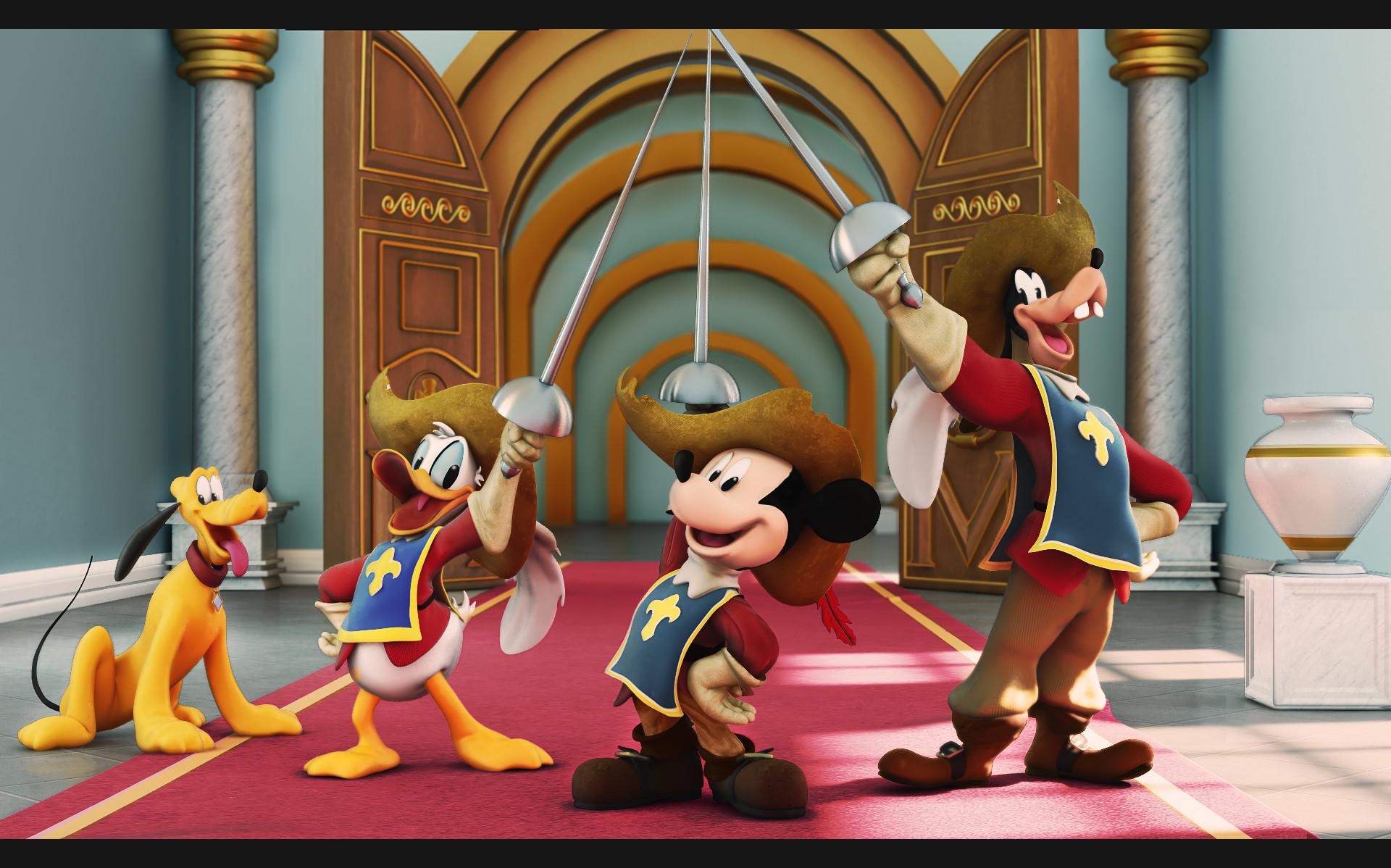 Artstation Mickey Donald And Goofy The Three Musketeers Fan Art Walter Torezan Junior