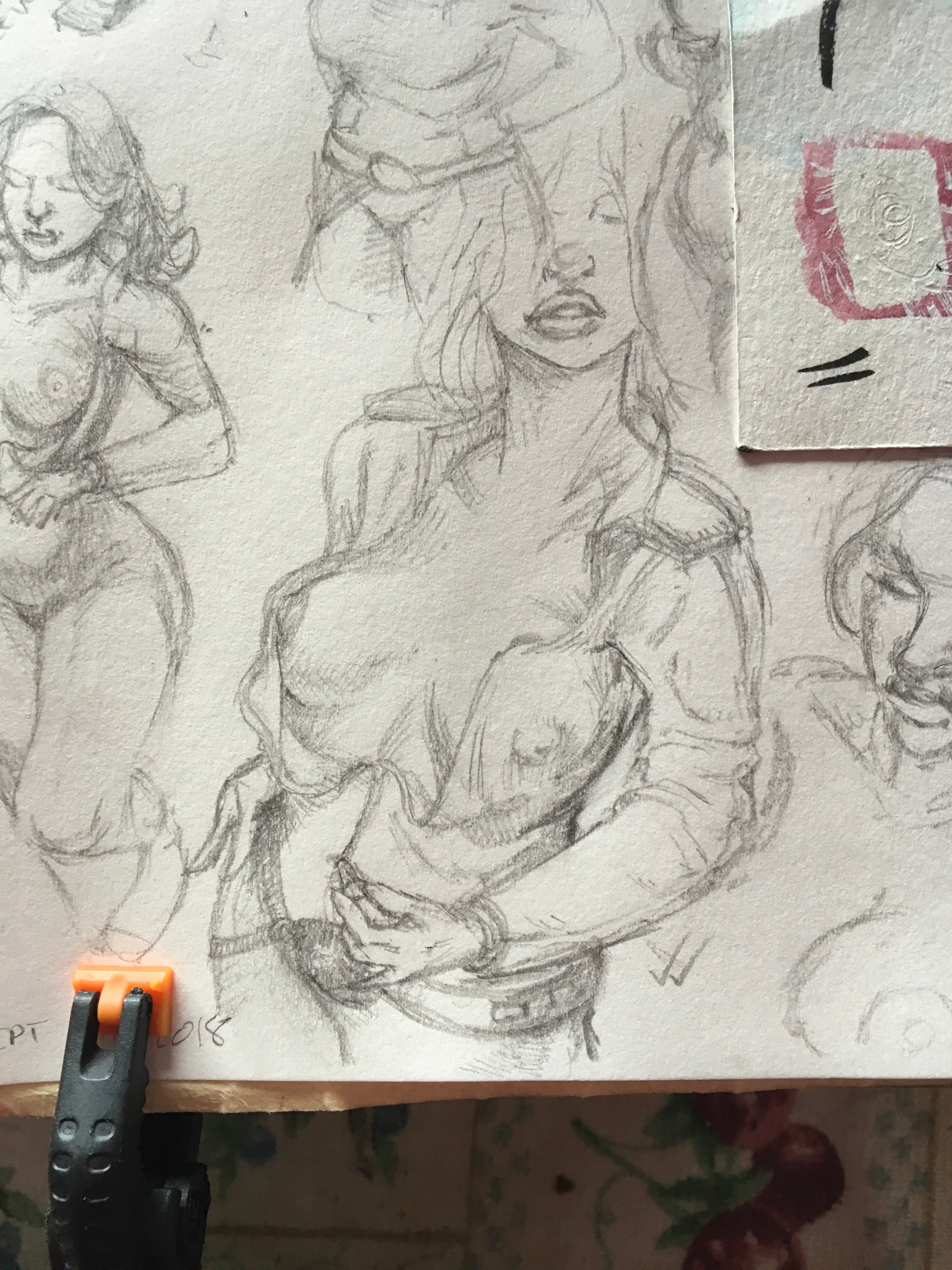"""Base sketch selected for painting. 3""""x4"""""""