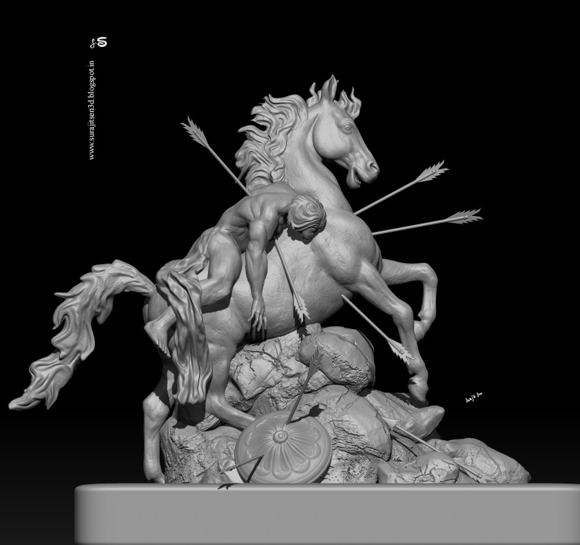 """WIP-SCULPT -  One of my concept Digital Sculpts. ...."""" The Last Moment """". I have started this sculpting couples of days ago. Tried to make a form of my thoughts.  Wish to share. .."""