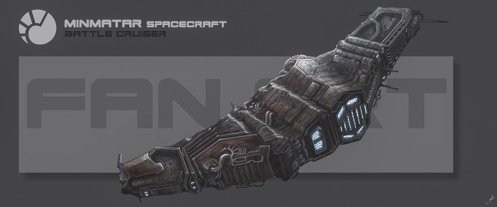 Minmatar Space Battlecruiser (Fan Art)