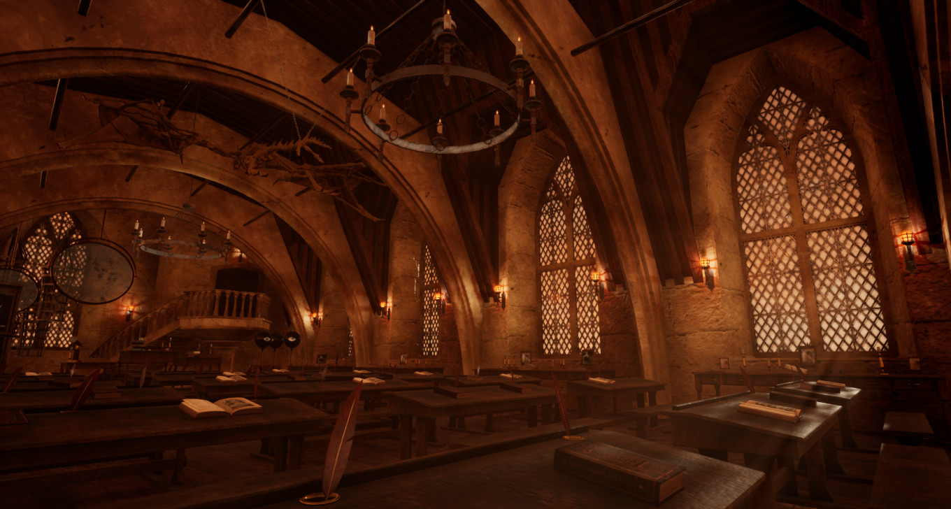 Michele Di Basilio Harry Potter Defense Against The Dark Arts Classroom 3d Environment Unreal Engine 4