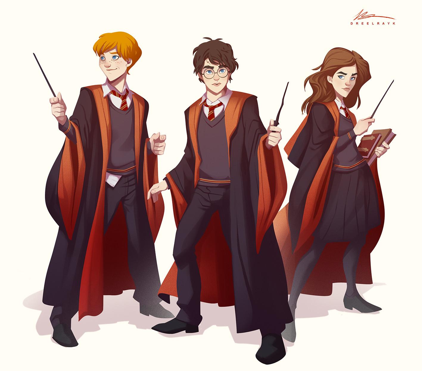 ArtStation - Harry Potter characters study - 01, Valerio ...