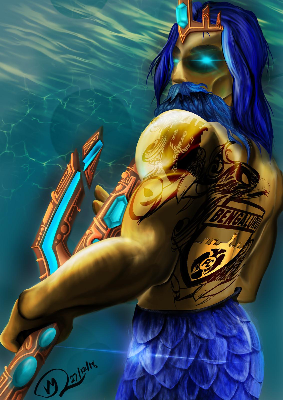Poseidon, the concept art