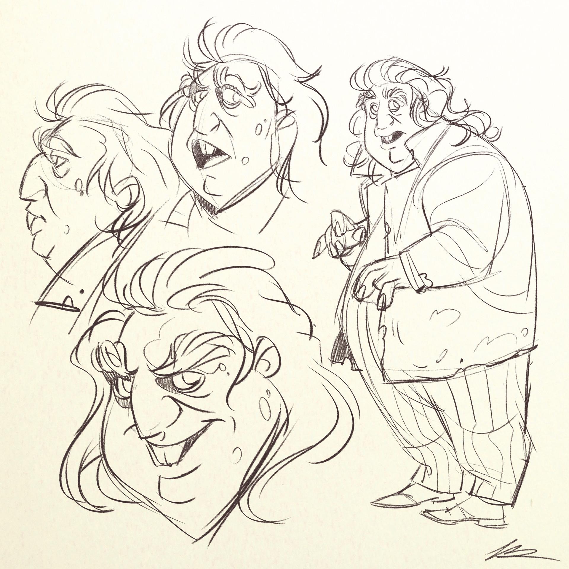 Valerio dreelrayk buonfantino peter pettigrew sketches