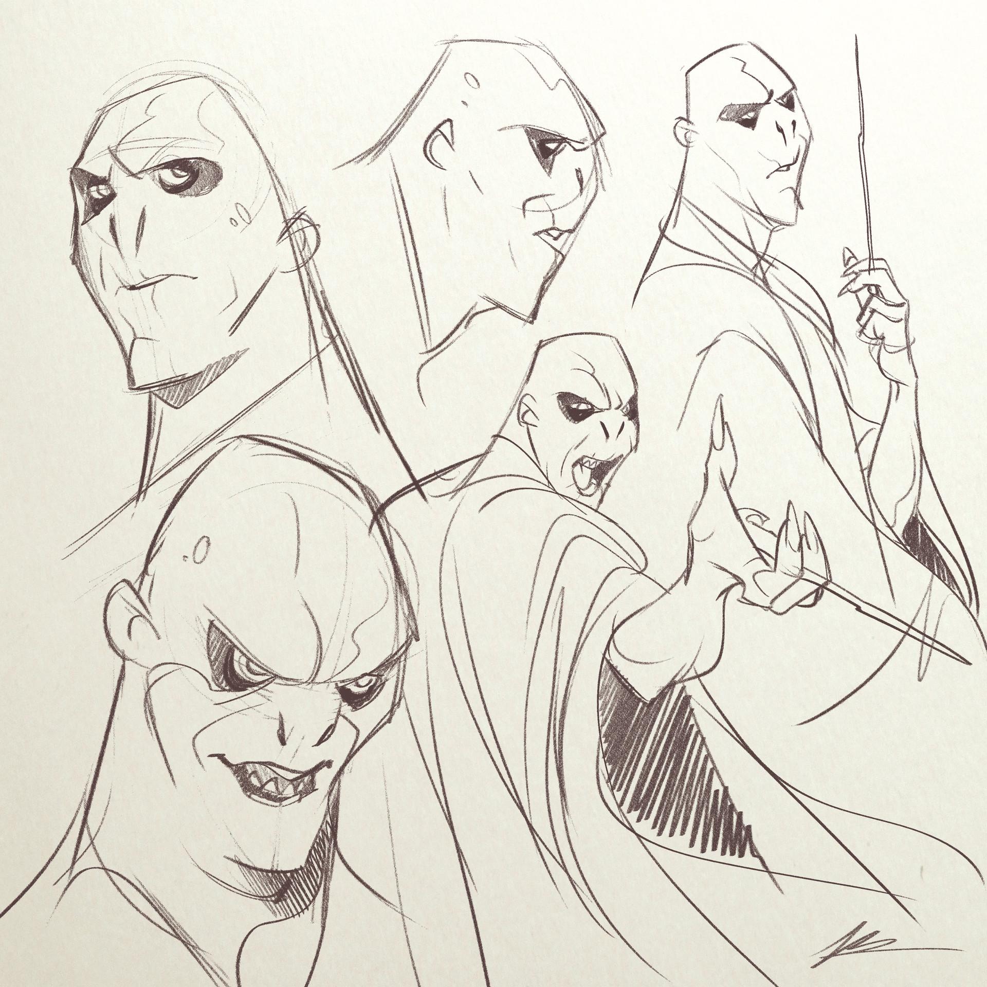 Valerio dreelrayk buonfantino voldemort sketches