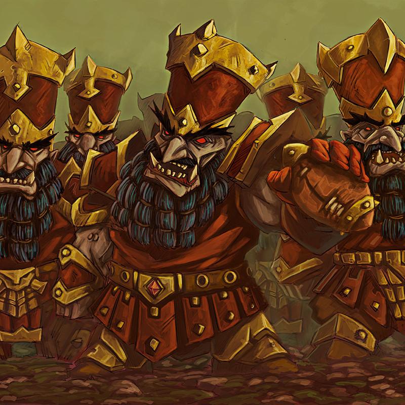 Chaos Dwarf Bloodbowl Team