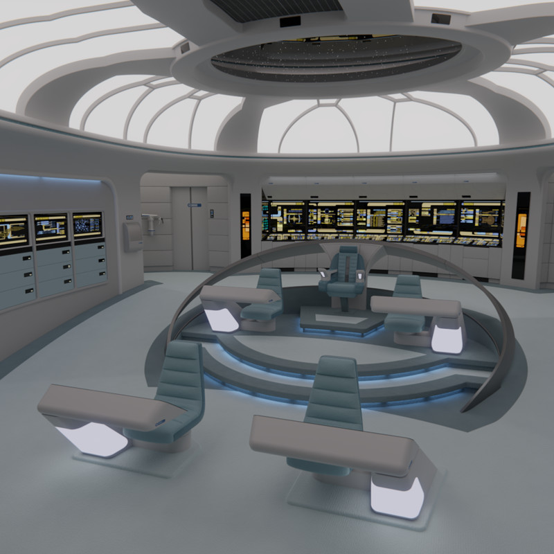 USS Galaxy Bridge - 2365