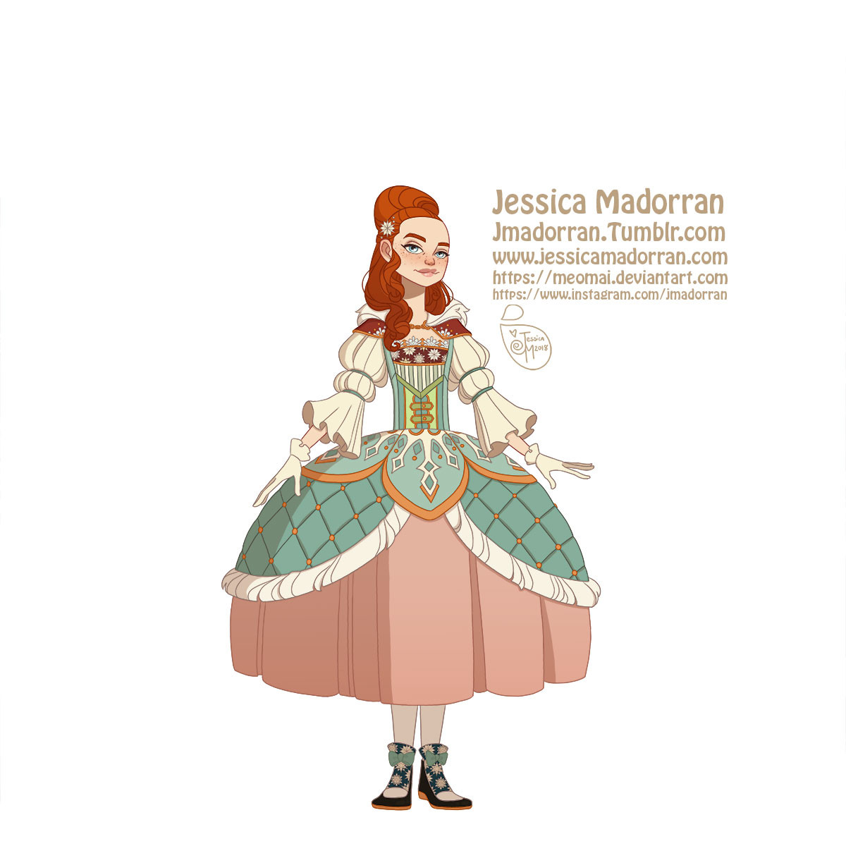Jessica madorran character design paris 2018 versailles santa family individuals daughter01