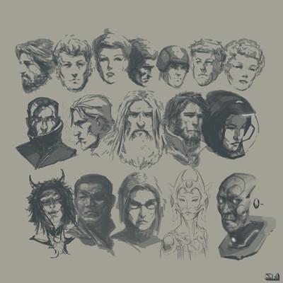Stephen whatley char portrait sketches 19