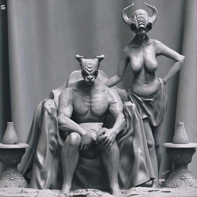 Surajit sen couple concept sculpture surajitsen dec2018